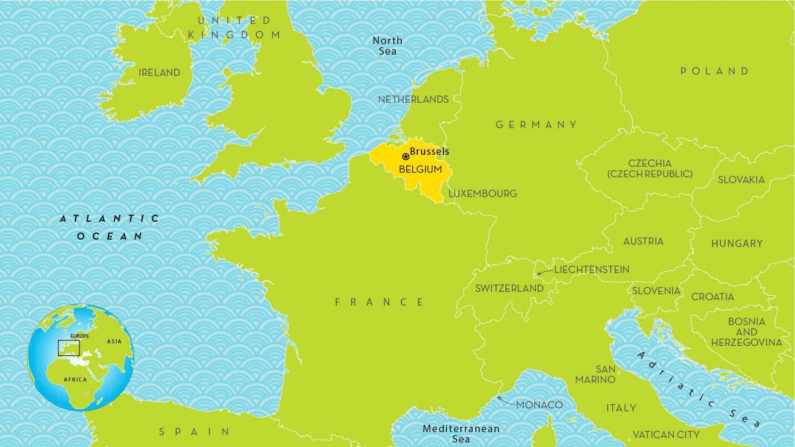 Bruxelles Belgia Harta Europei Harta Bruxelles Ului In Europa