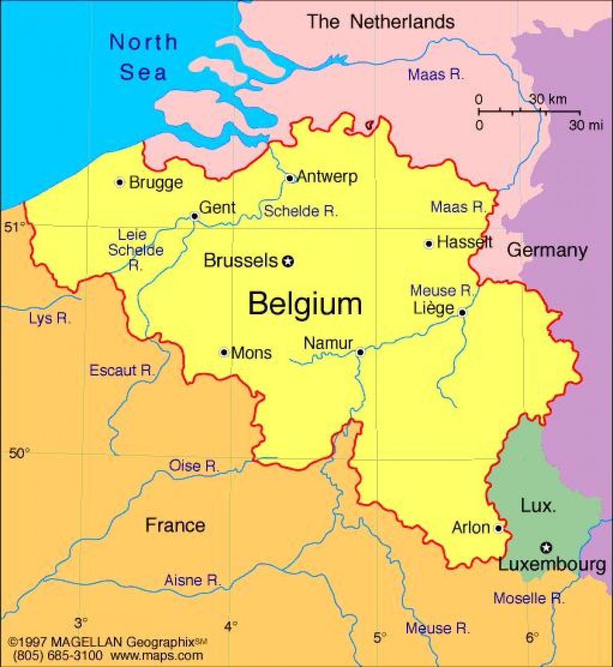 Hartă A Franței și Bruxelles Hartă A Bruxelles Ului și Franța