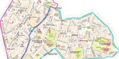 Bruxelles Hartă Hărți Bruxelles Belgia